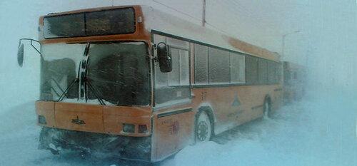 Мороз притормозил автомобилистов