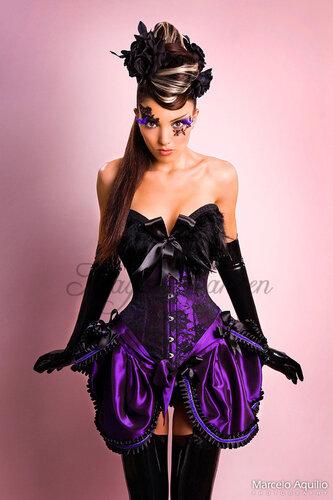 Корсет фиолетовый