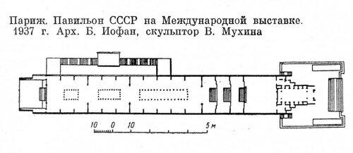 Павильон СССР Рабочий и колхозница на Международной выставке в Париже 1937 г.