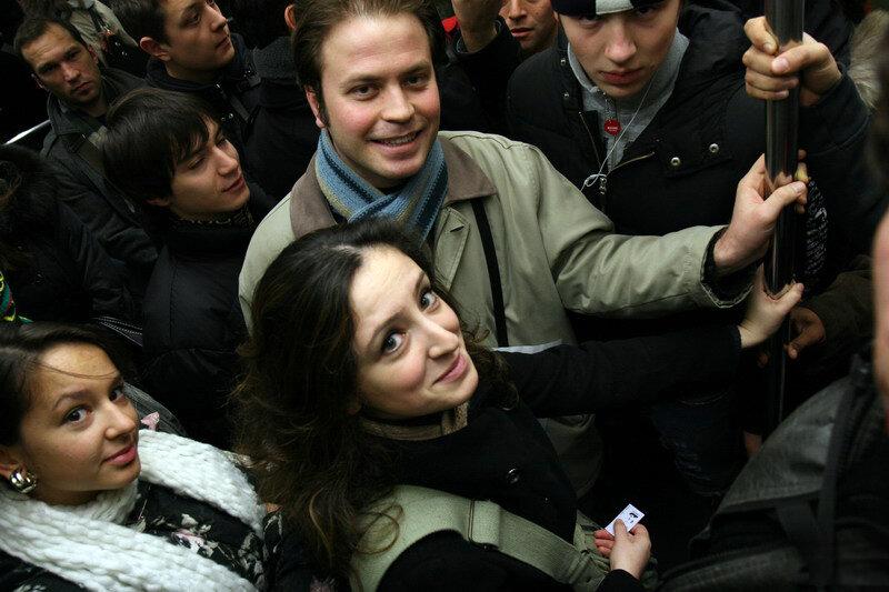 Французы в метро