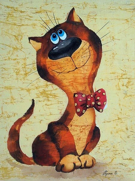 Коты в батике картинки
