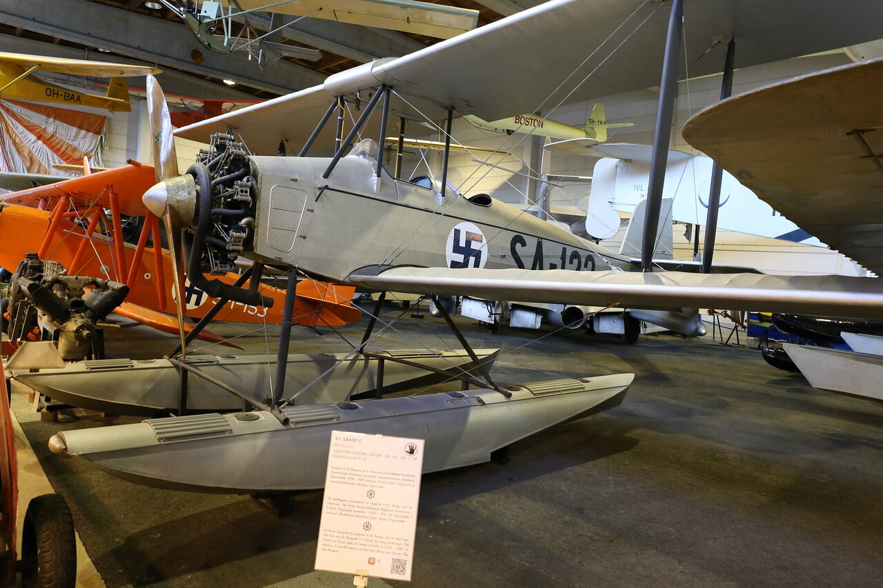 Гидросамолёт Sääski IIA (Финский музей авиации в Вантаа)