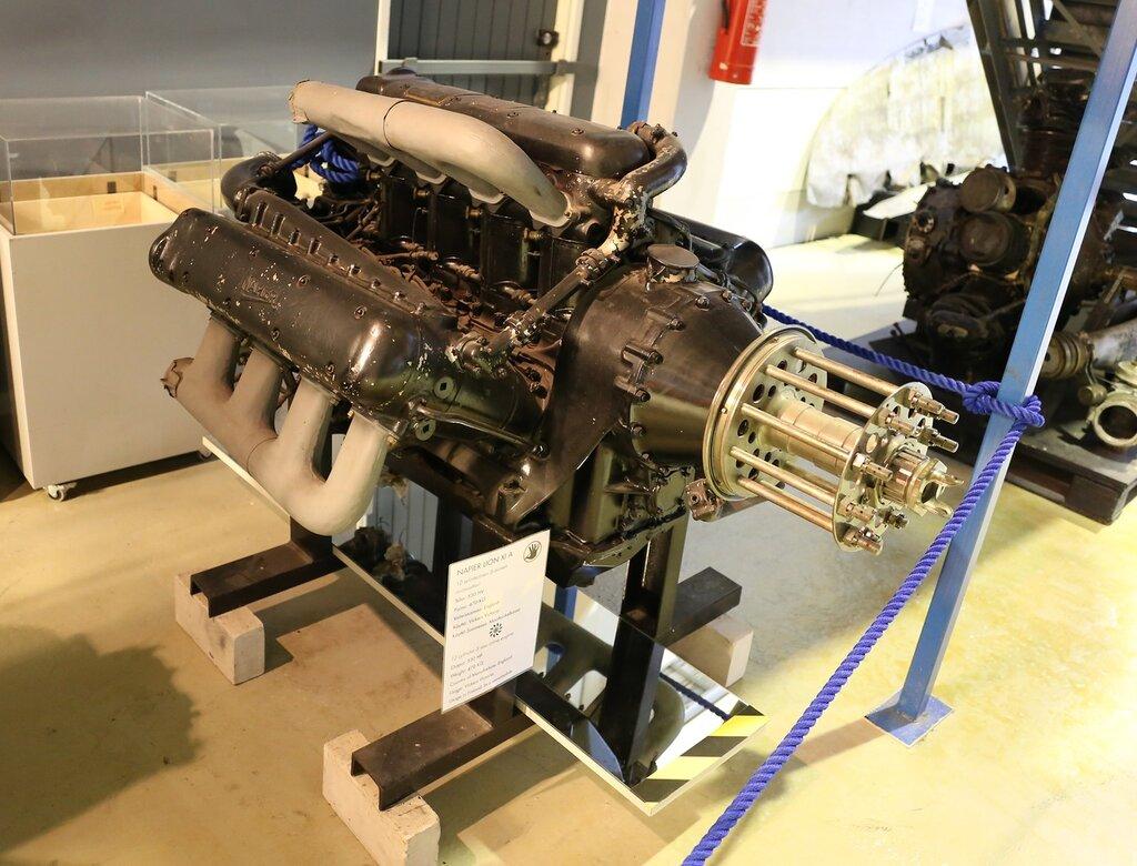 Engine Napier Lion XIA. Helsinki-Vantaa aviation Museum
