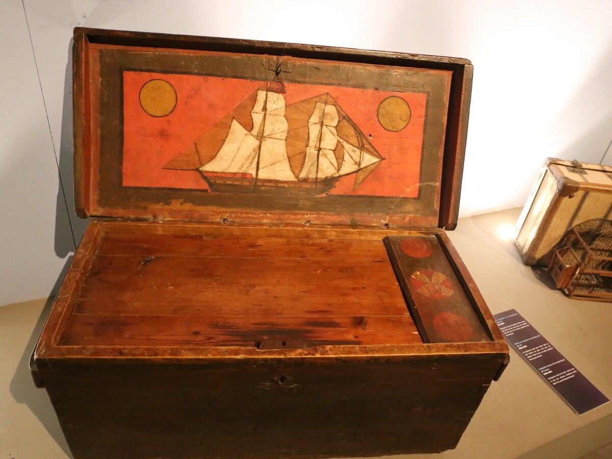 Maritime Museum of Barcelona. Collection of road chests