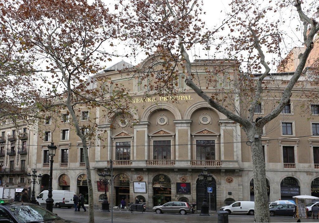 Barcelona. The Rambla. Teatre Principal. Barcelona. La Rambla