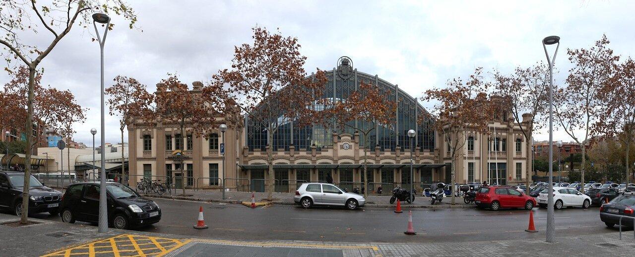 Барселона. Северный вокзал. панорама. Estació del Nord, Barcelona. panorama