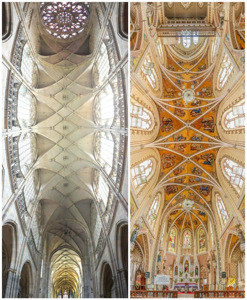 Собор Святого Вита, Прага и Собор Святого Имени, Мумбаи, Индия
