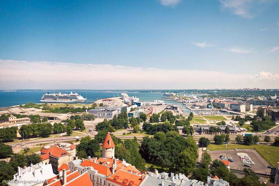 Эстония, Таллин, Вид на порт Таллина