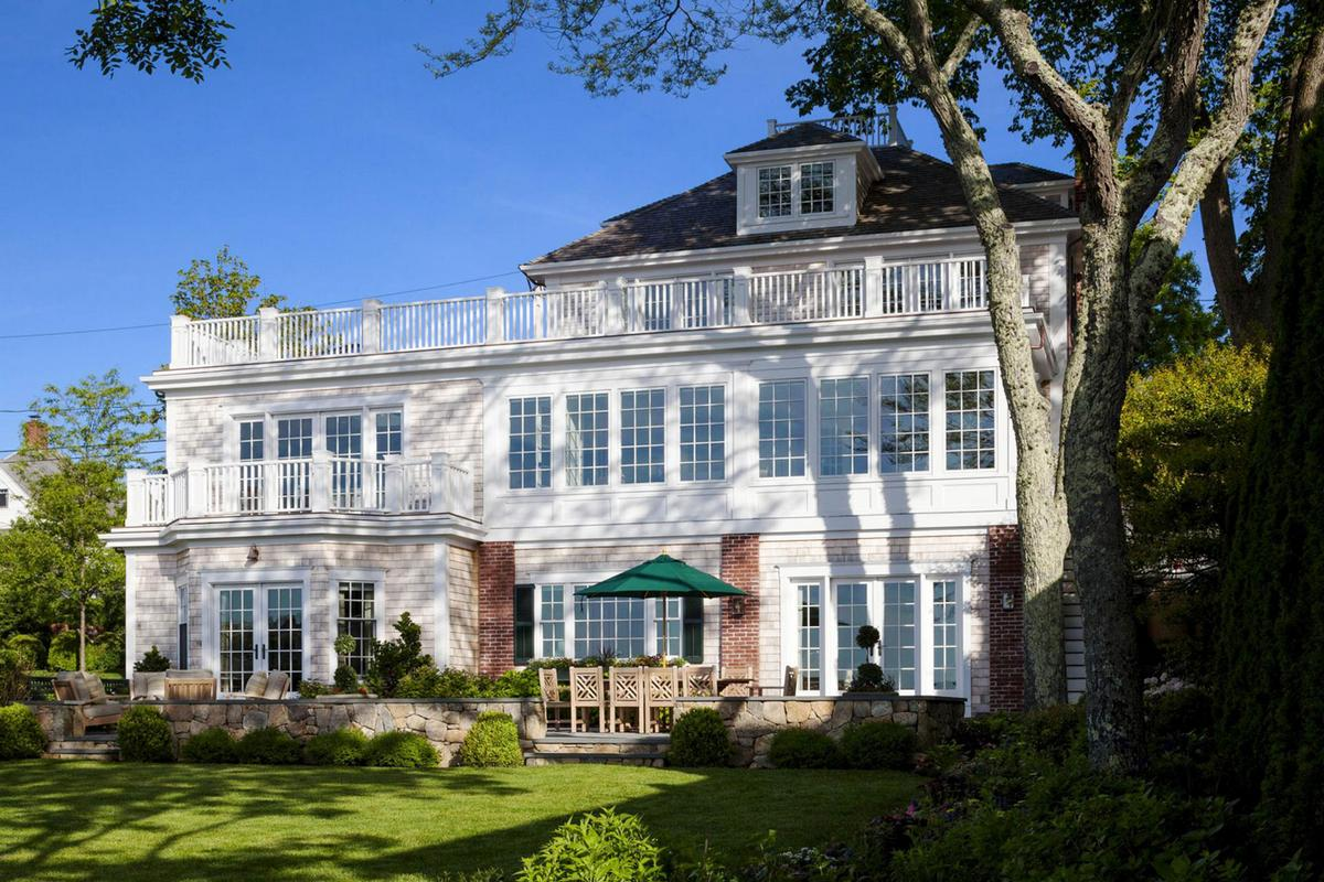 мыс Кейп-Код, остров Мартас-Винъярд, дома на мысе Кейп-Код, особняки в штате Массачусетс, классический американский дом, примеры американских домов