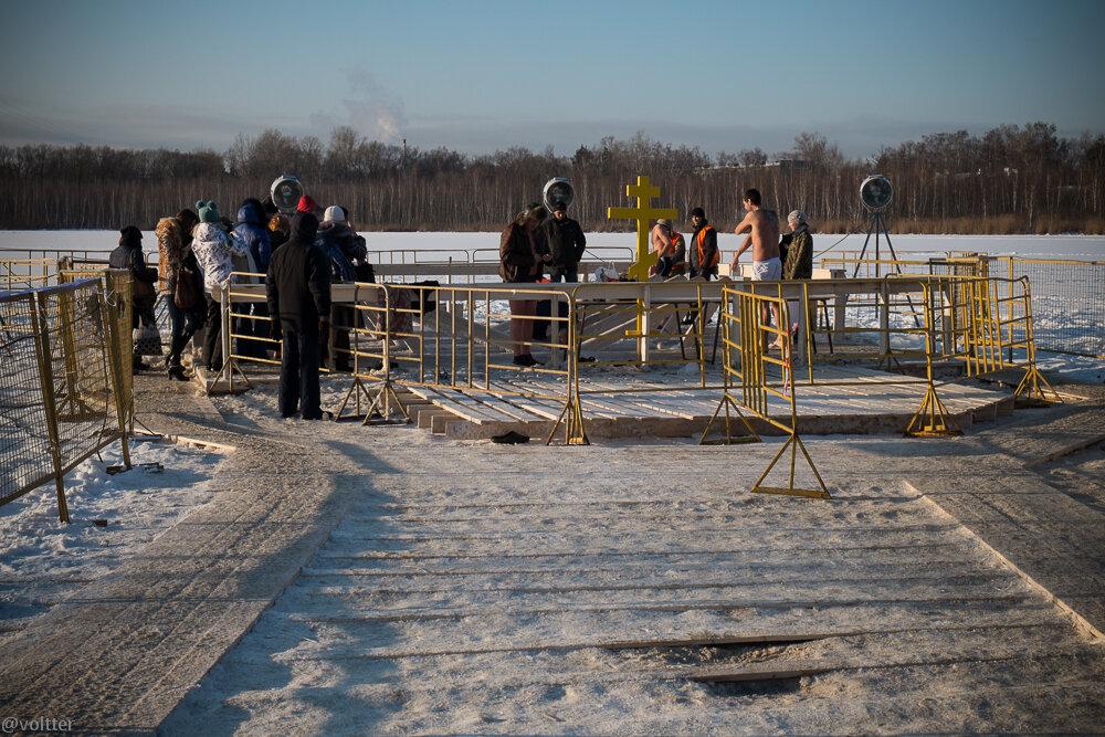 Крещение 2014 в Кожухово, Святое озеро
