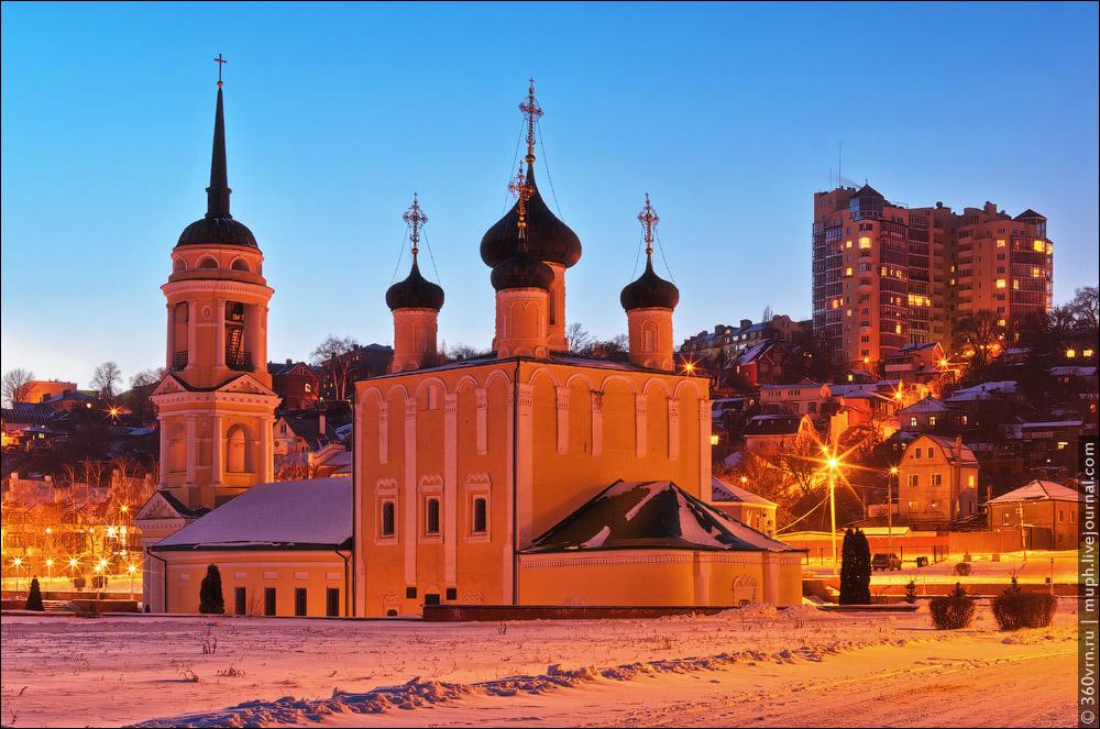 Воронеж зимой фото Адмиралтейская Успенская церковь