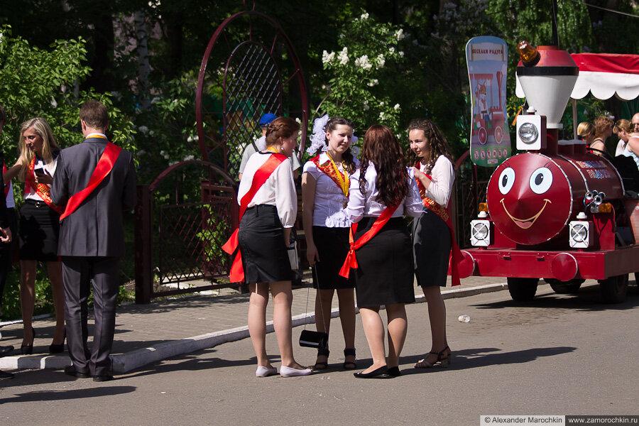 Последний звонок в Саранске. Выпускники в парке