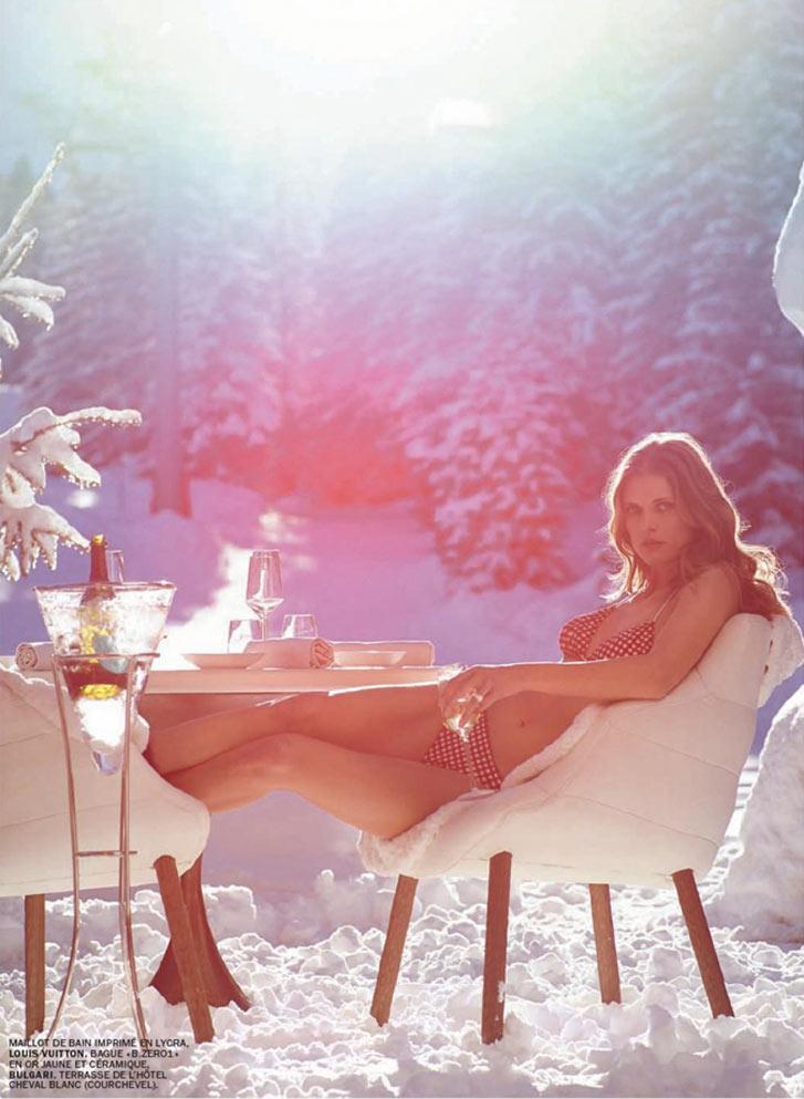 Зимние игры - Малгоша Бела / Malgosia Bela by Mark Segal in Lui february 2014 / Jeux d'Hiver
