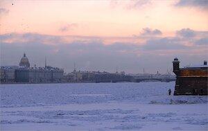Зимний закат у Петропавловской крепости-1