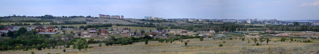 Панорама. Горная поляна, новый коттеджный поселок (Ривьера), пруд, ЖК Санаторный.