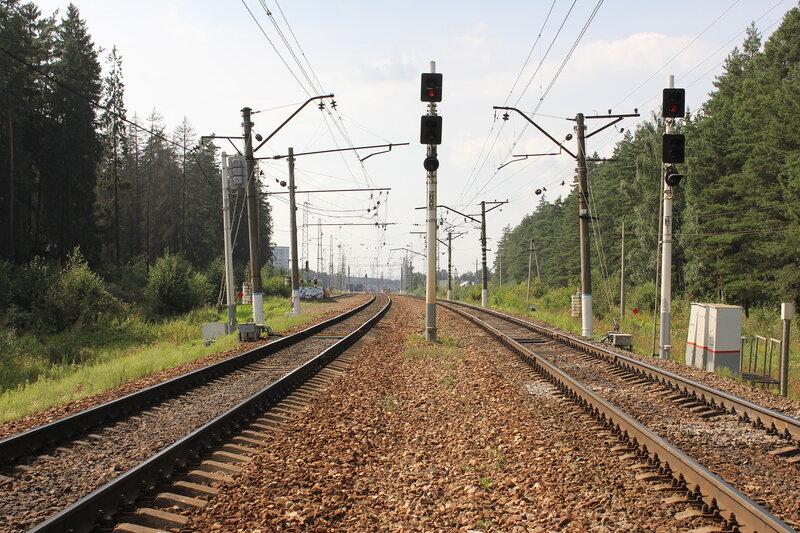 Входные светофоры станции  Нахабино