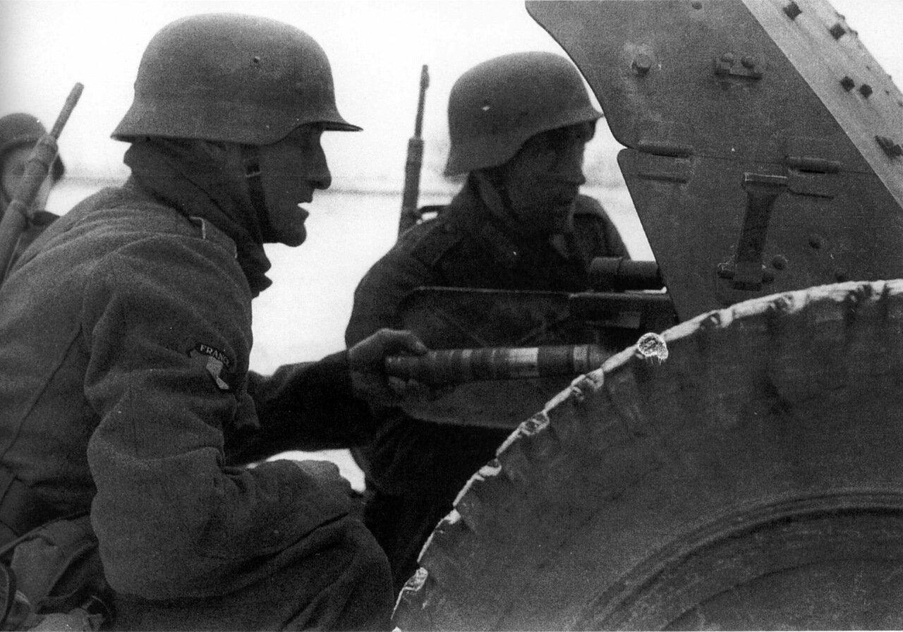 1941. Битва за Москву. Легион французских добровольцев против большевизма или ЛВЗ (638 пехотный полк  вермахта)