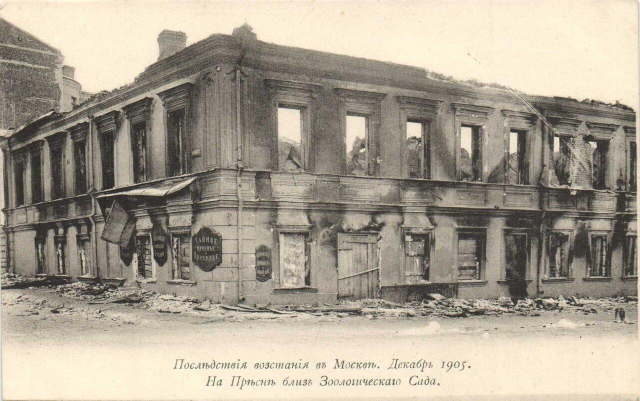 Последствия восстания в Москве. На Пресне близ Зоологического Сада