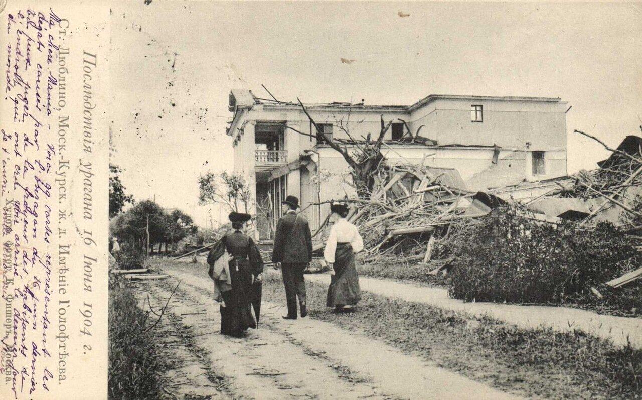 Последствия урагана 16 июня 1904. Ст. Люблино, имение Голофтеева