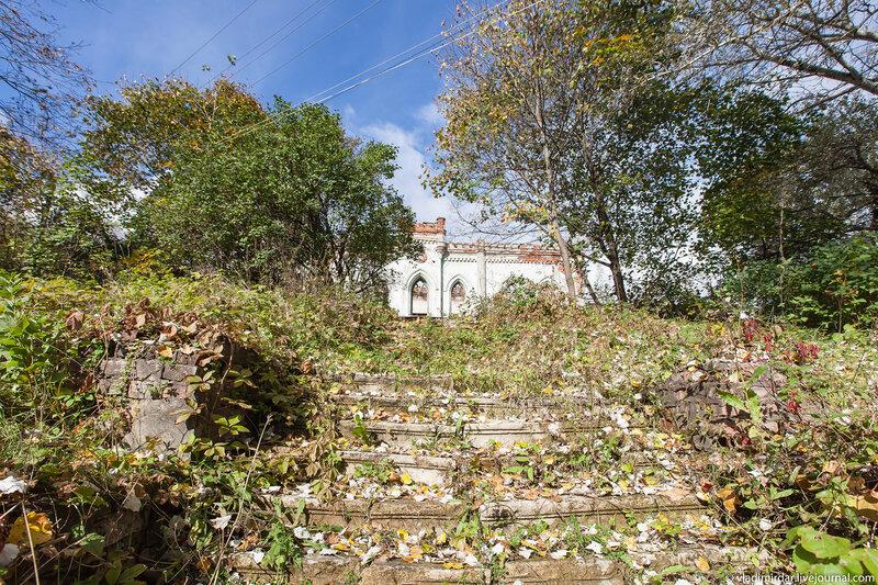 Остатки лестницы парка в Колосово