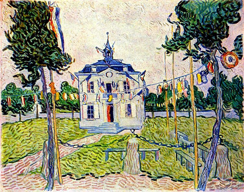 Auvers Town Hall, 14 July 1890 - Vincent van Gogh