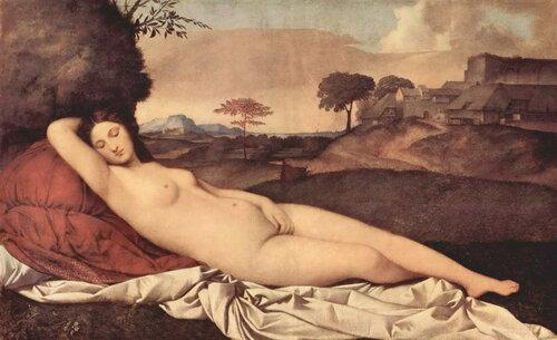 Джорджоне:  Спящая Венера (ок. 1510)
