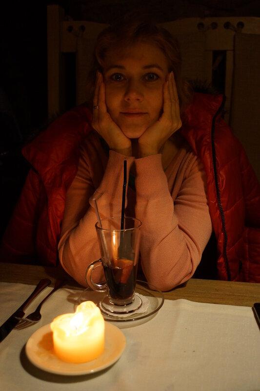 Стаканчик глинтвейна при свечах...