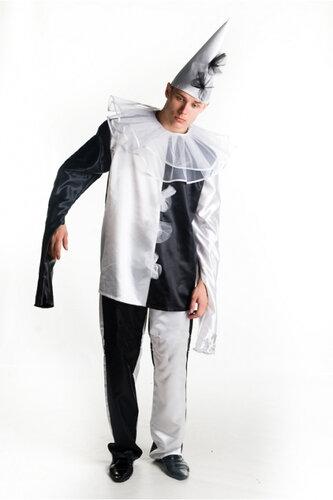 Мужской карнавальный костюм Пьеро