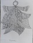 30-04 Урок 1, задание 1, рисование на бумаге предметного zentangle.