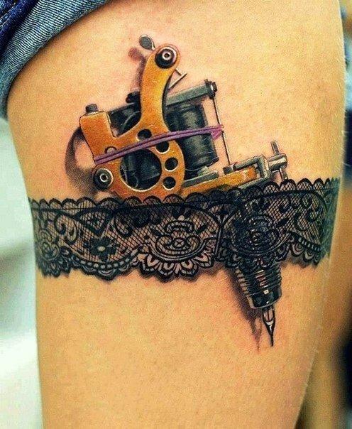 Невероятно объемные татуировки