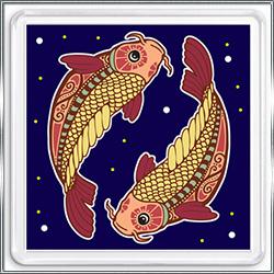 Магнит сувенирный Знак Зодиака Рыбы