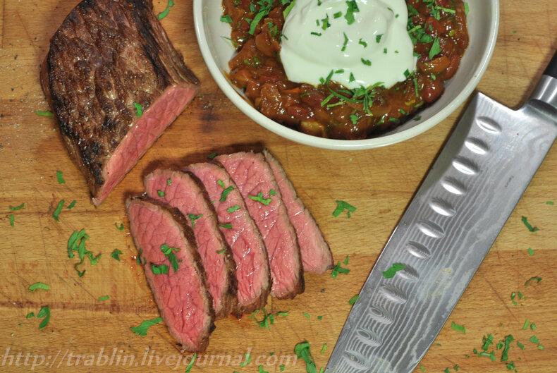 говядина стейк на сковороде рецепты с фото