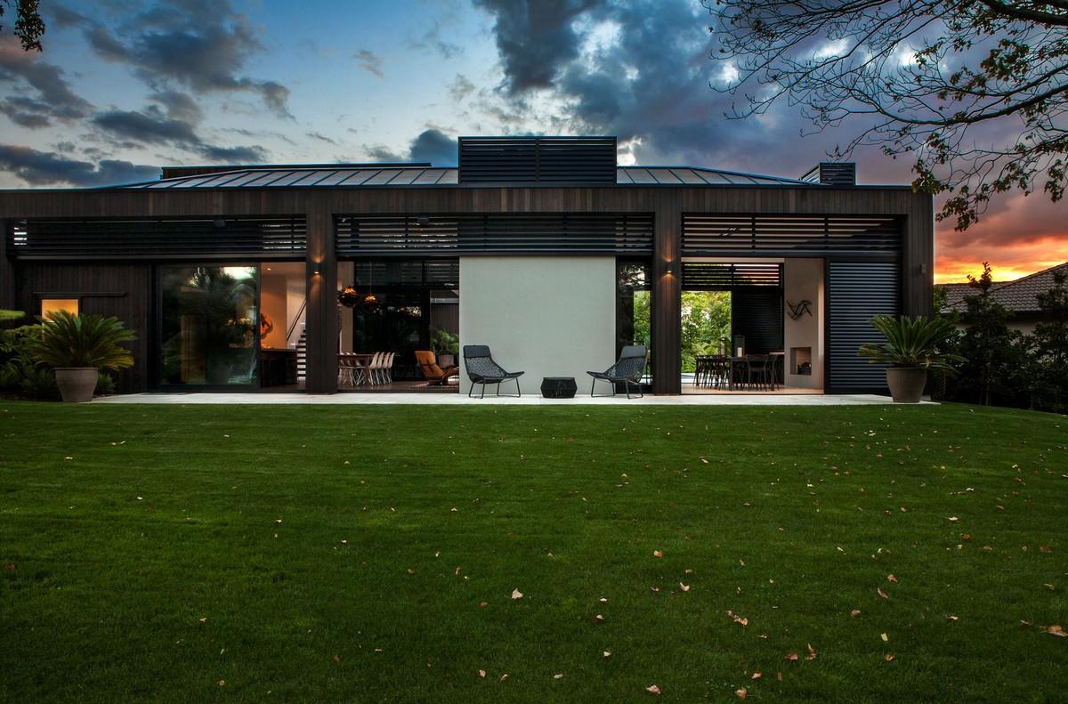 Godden Cres, Dorrington Architects & Associates, строгий дизайн интерьера, частные дома Окленд, частные дома в Австралии, дизайн интерьера