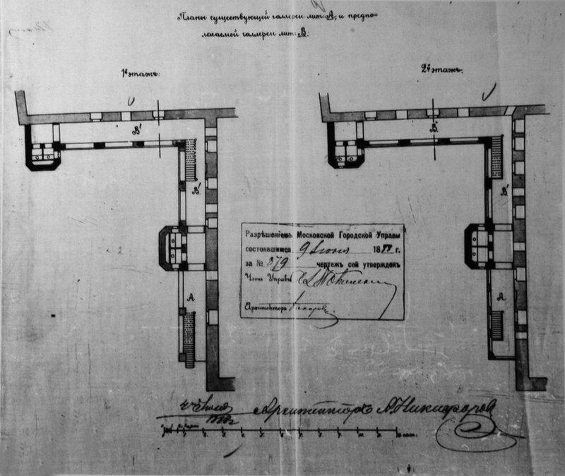 План галерей. 1888. А. А. Никифоров