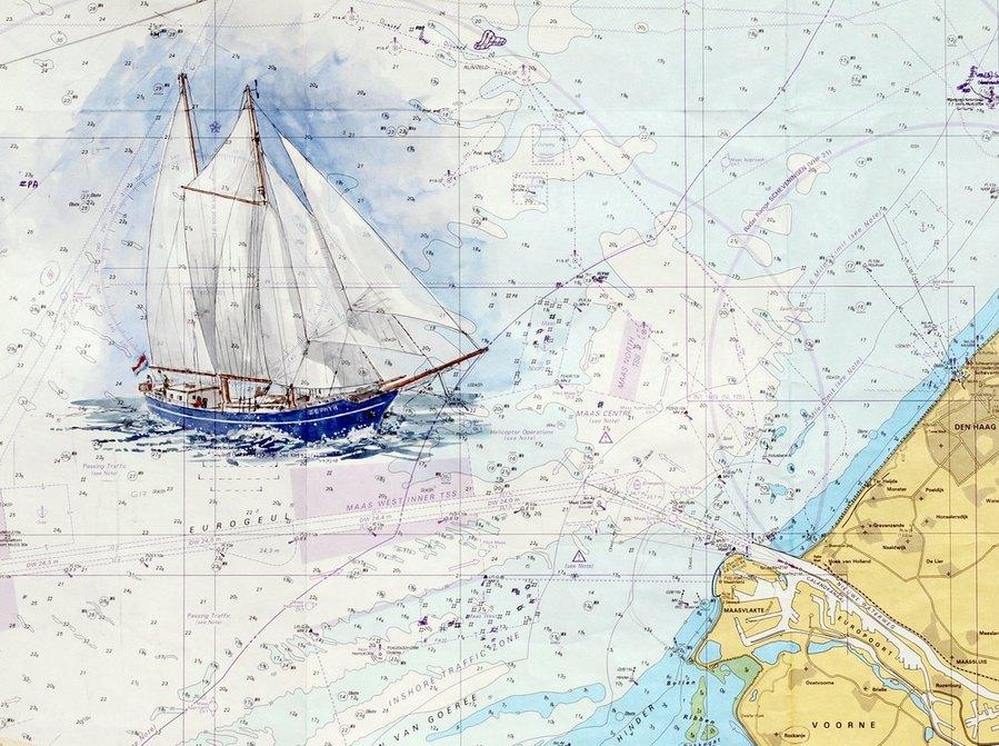 В флибустьерском дальнем синем море бригантина поднимает паруса