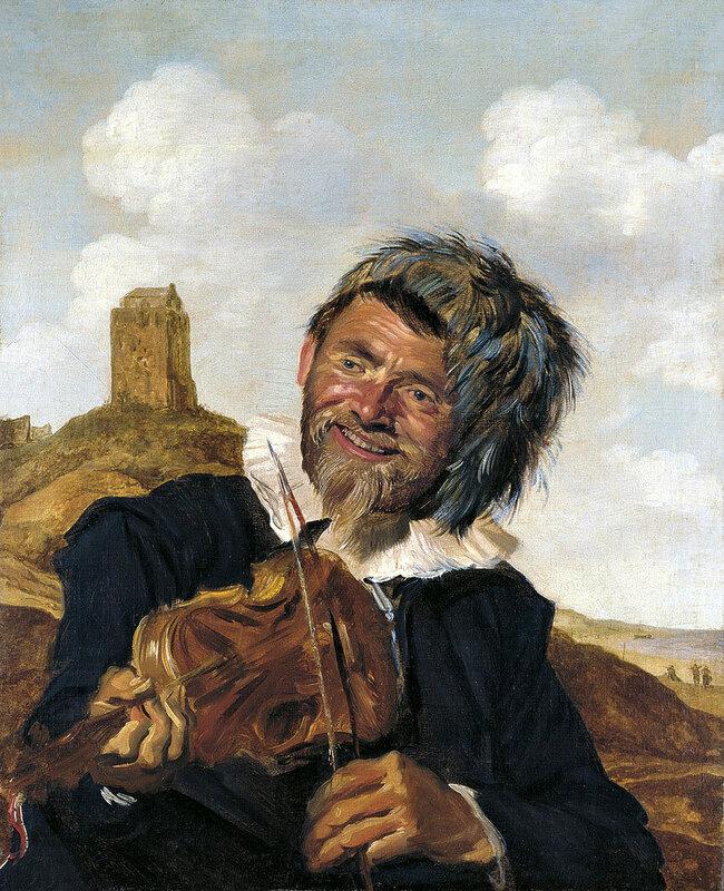 Картины старых мастеров, Франс Хальс, Рыбак играющий на скрипке