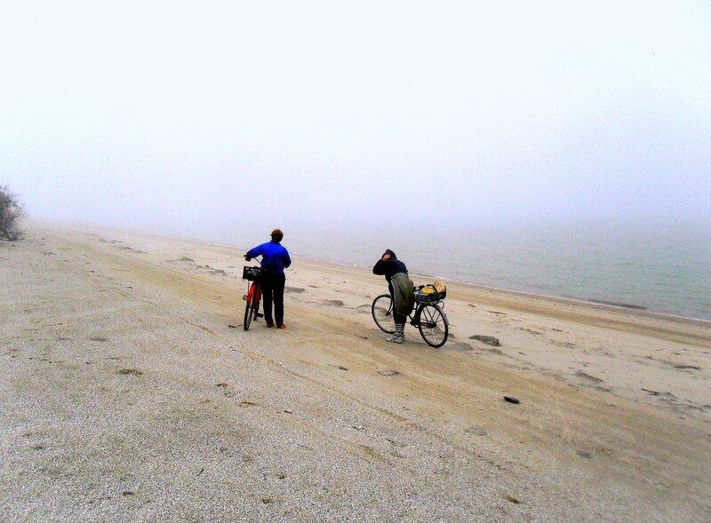 В походе, туман, у моря Азовского