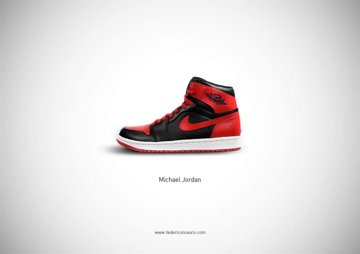 Знаменитая обувь культовых персонажей / Famous Shoes by Federico Mauro - Michael Jordan