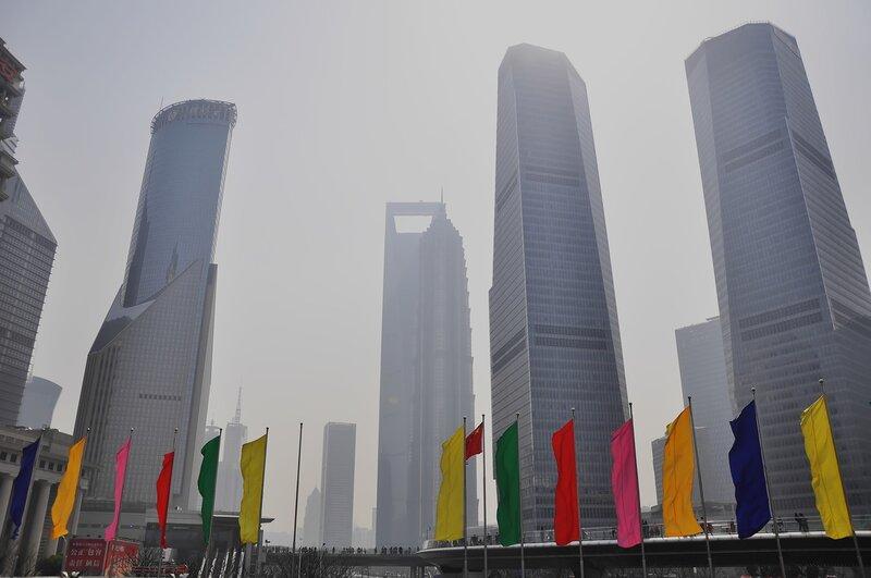 Небоскребы Шанхая. Китай