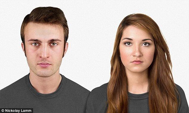 Современные мужчина и женщина