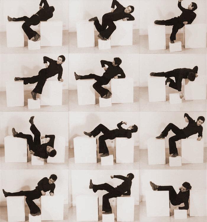 "Bruce McLean, ""Pose Work for Plinths 1"", 1971 © Bruce McLean"