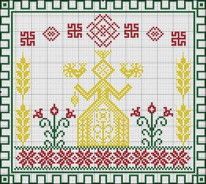 Белобог вышивка схема