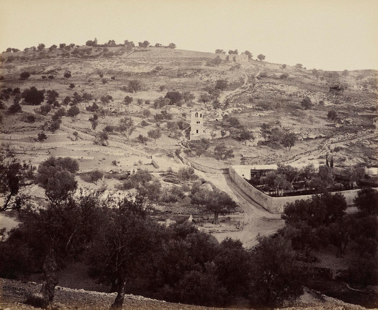 2 апреля 1862. Масличная гора и Гефсиманский сад