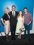 NEW YORK, NY - FEBRUARY 24: (L-R) Producer Lauren Versel, screenwriter/director Richard LaGravenese, actors Anna Kendrick and Jeremy Jordan attends the
