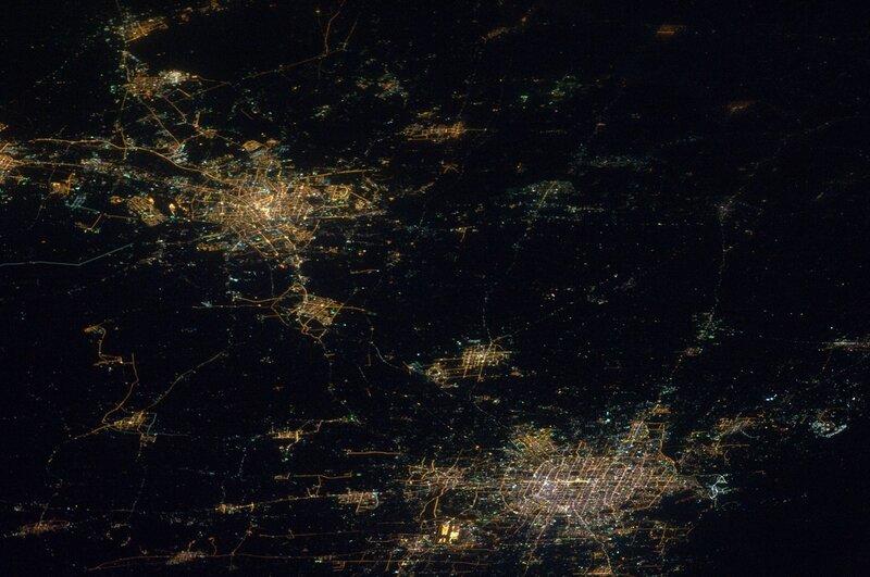 Пекин и Тяньцзинь из космоса