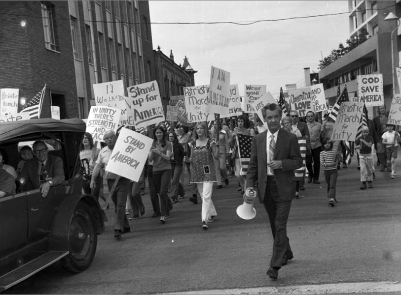Pro-Vietnam War Demonstration in Idaho, May 20, 1972