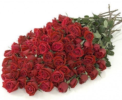 Великолепный букет красных роз