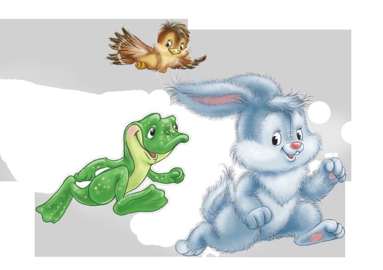 Картинки для детей зайчики и белочки