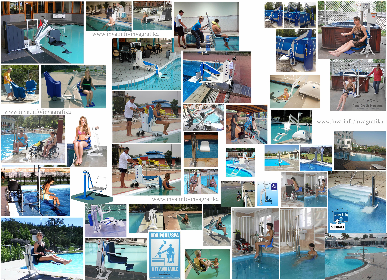 Мобильные электрические и гидравлические подъемники для бассейна