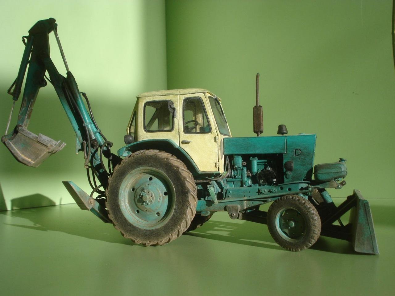 Картинки трактора из бумаги